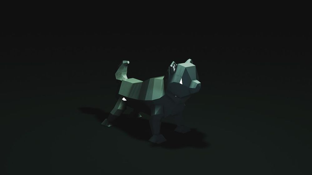 Low poly dog - image 1 - student project