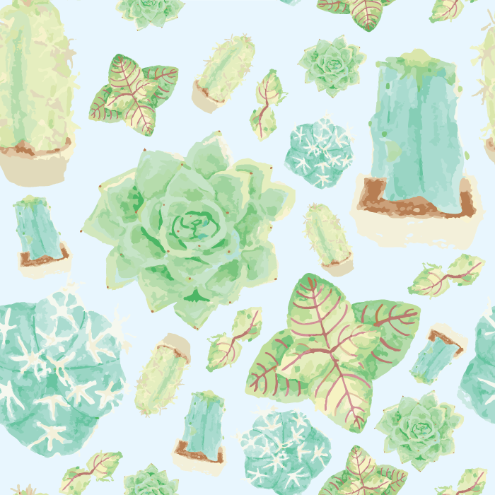 Succulents Pattern - image 1 - student project