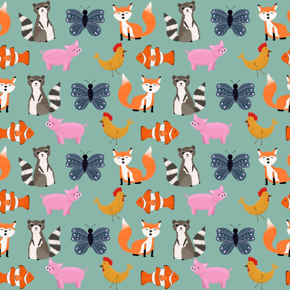 Animal Party Pattern - image 1 - student project