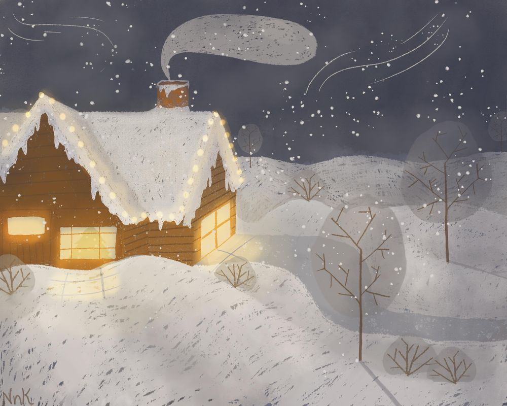 Cabin in the Winter Forest - image 1 - student project