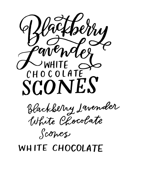 Blackberry Lavender White Chocolate Scone - image 5 - student project
