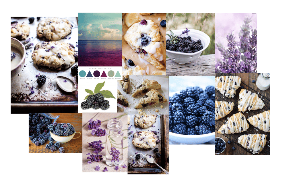 Blackberry Lavender White Chocolate Scone - image 1 - student project