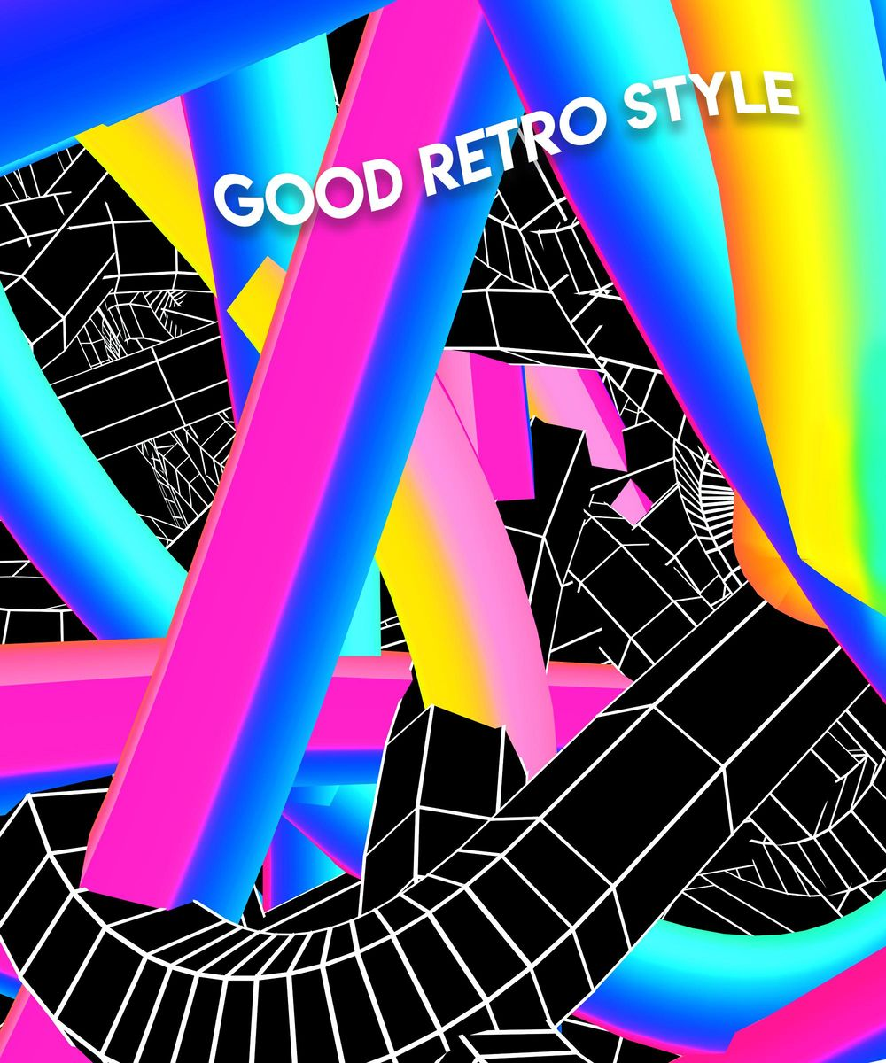 Retro 3D Twisted Lines Using Photoshop and Cinema4D - image 2 - student project