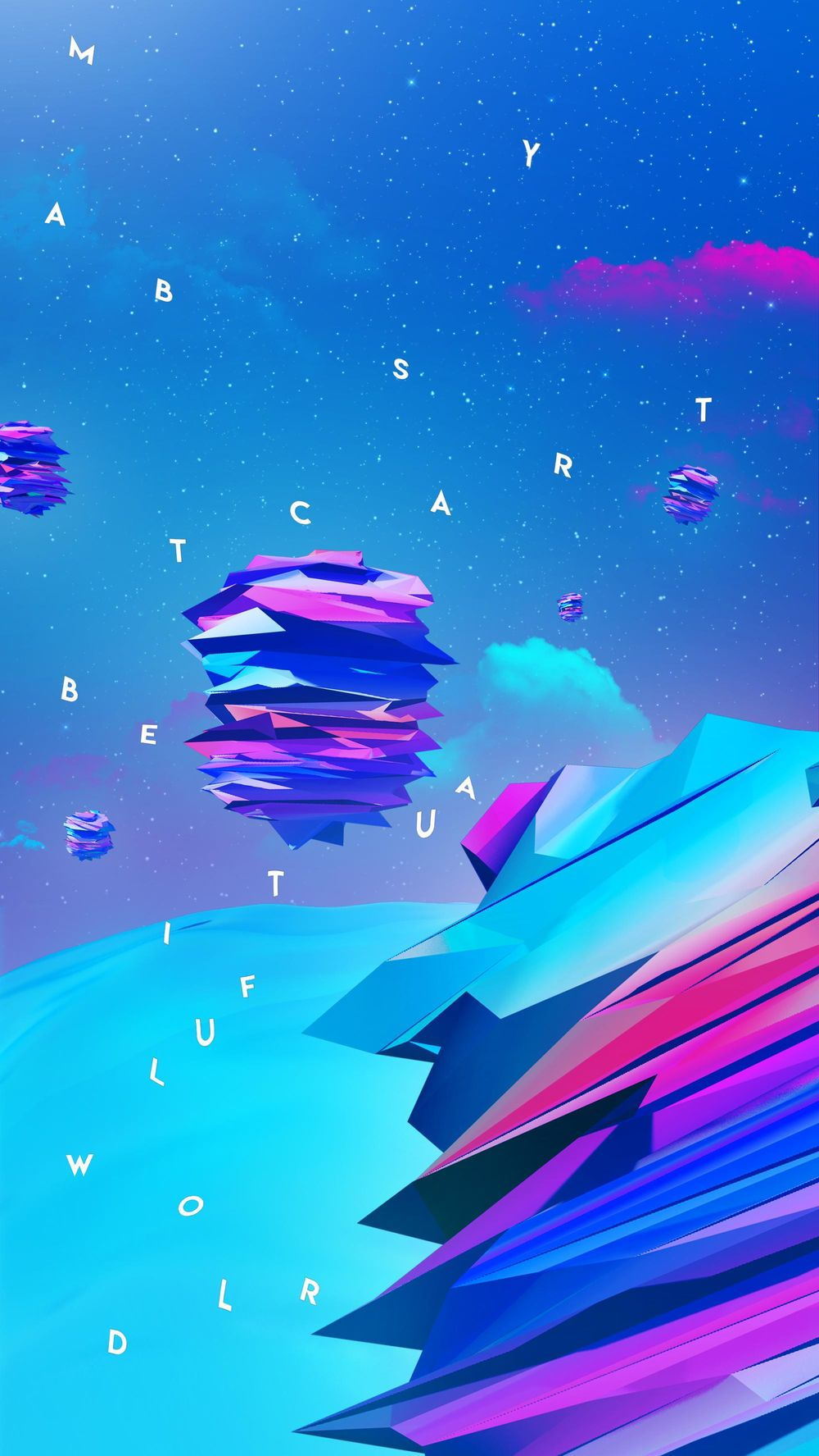 Abstract Colorful Artwork Using Photoshop and Cinema4D - image 2 - student project