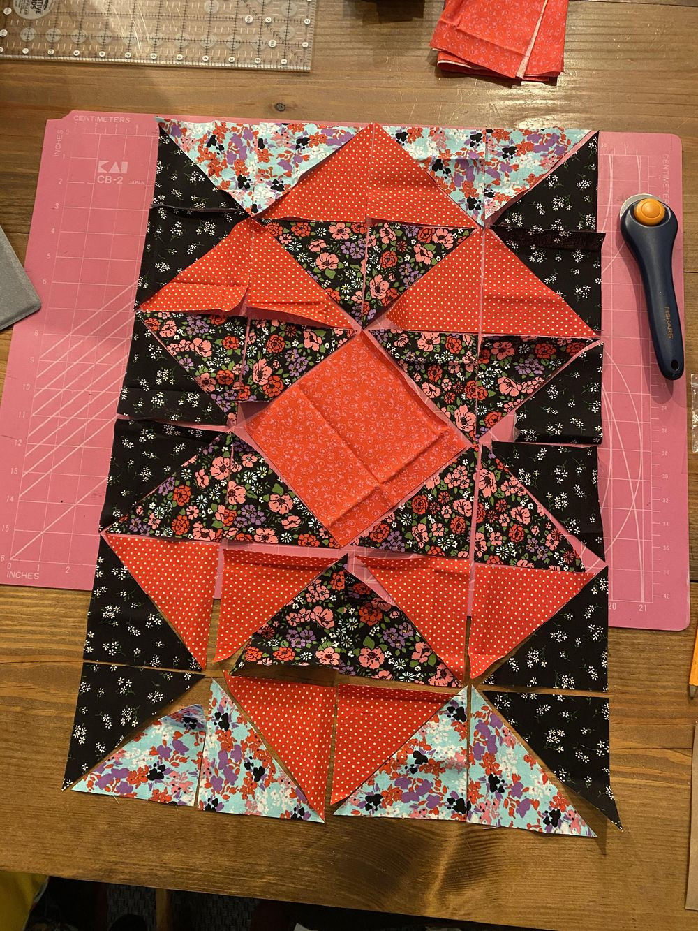 First quilting project - image 3 - student project