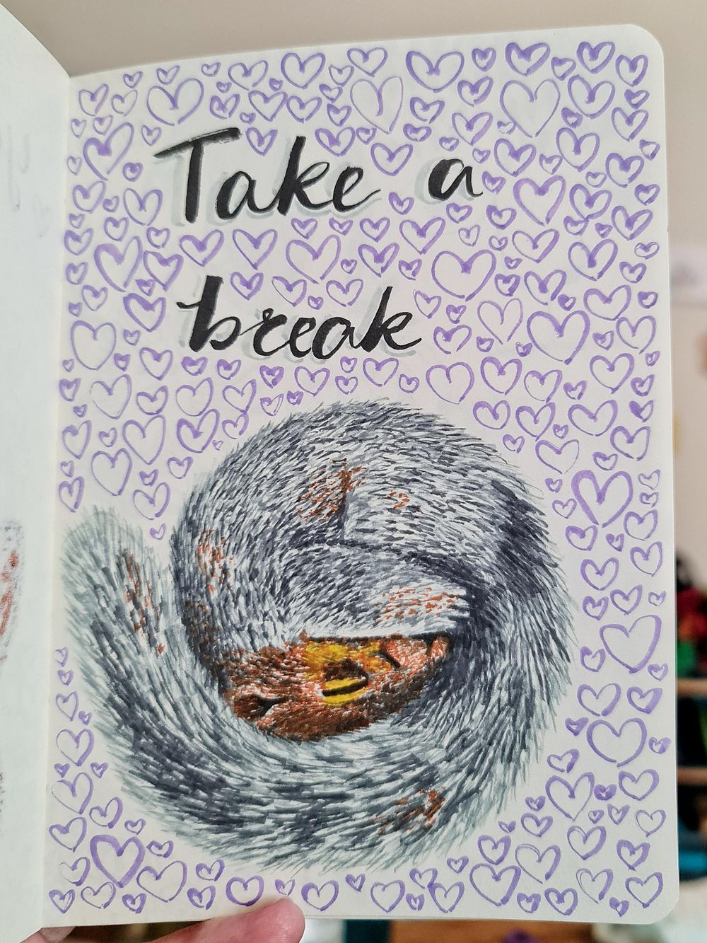 14 days of drawing art for self care - image 4 - student project