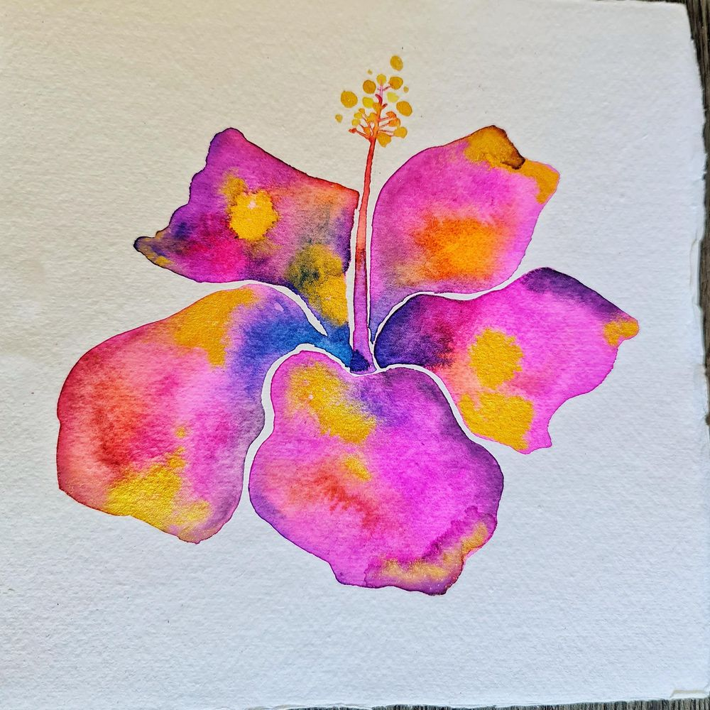 Modern watercolour botanicals - image 2 - student project