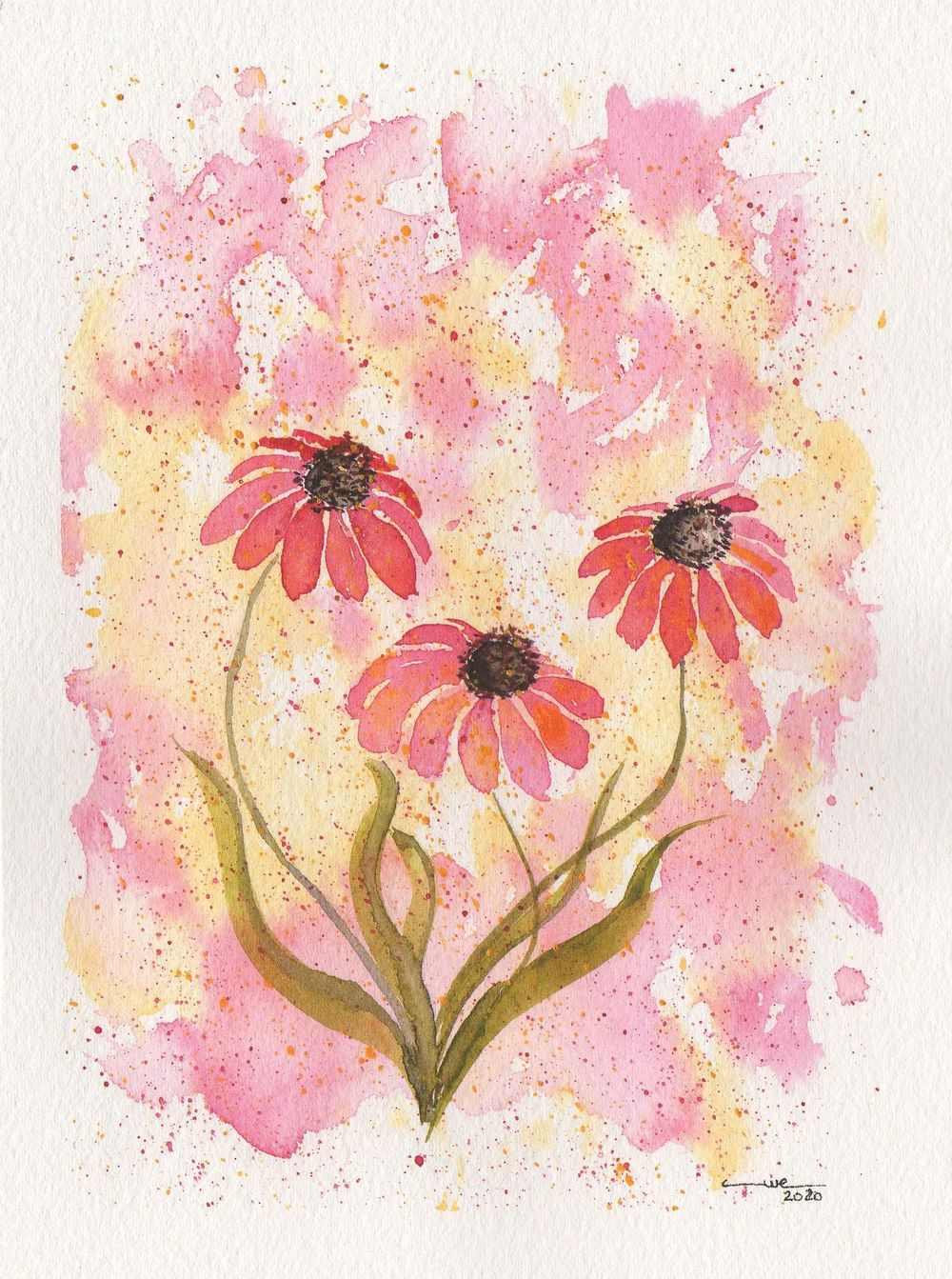 Expressive Watercolor Florals - image 1 - student project