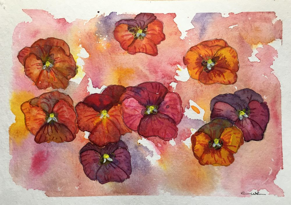 Vibrant Flowers - image 1 - student project