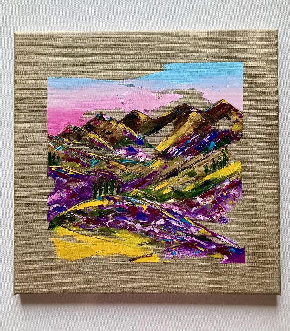 Vibrant Landscape Oil Painting - image 1 - student project