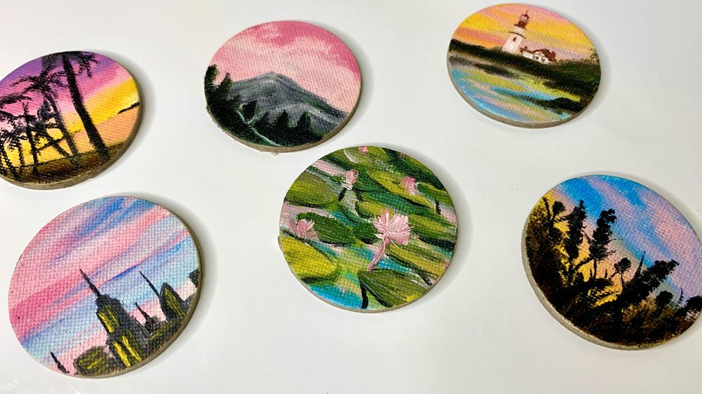 Miniature Oil Paintings - image 1 - student project