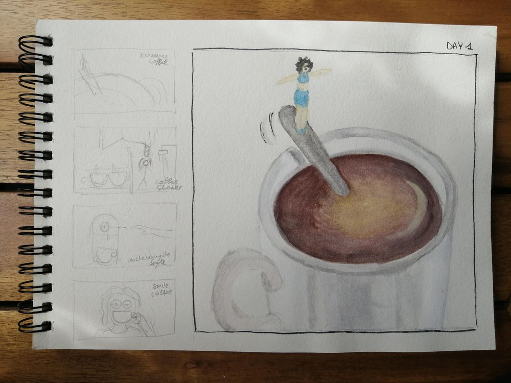 Watercolor for Breakfast - image 1 - student project
