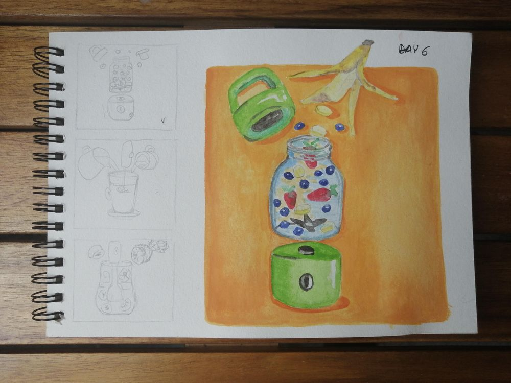 Watercolor for Breakfast - image 6 - student project