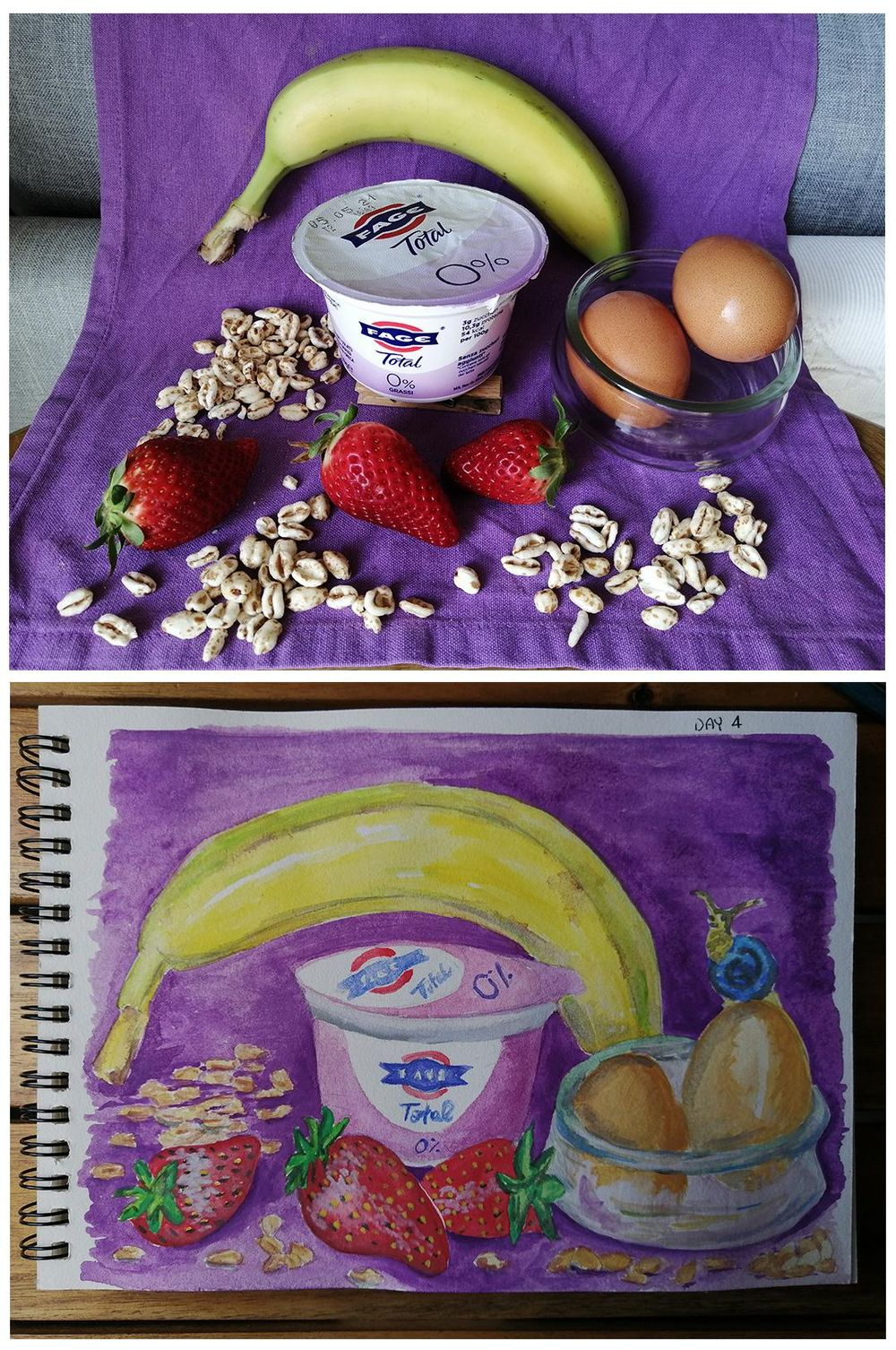 Watercolor for Breakfast - image 4 - student project