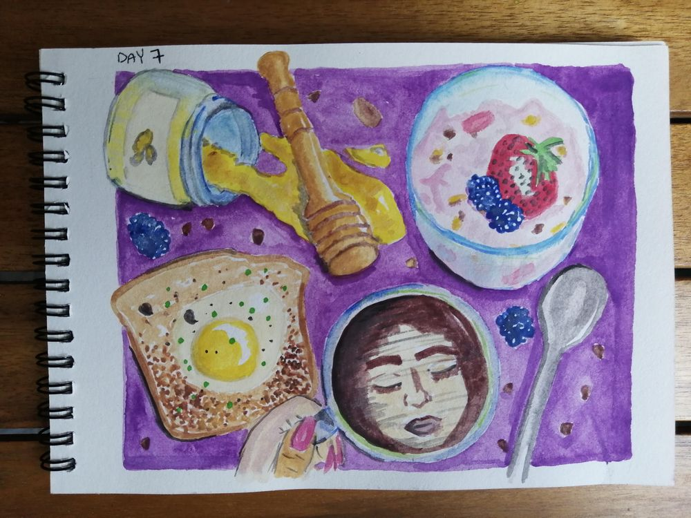 Watercolor for Breakfast - image 7 - student project