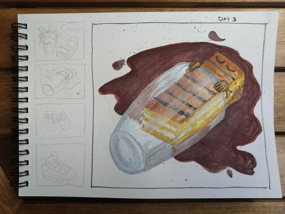 Watercolor for Breakfast - image 3 - student project