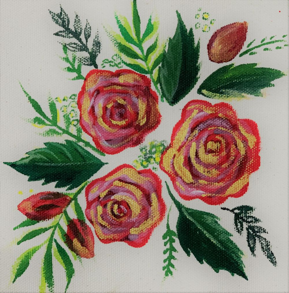 roses - acrylic - image 1 - student project