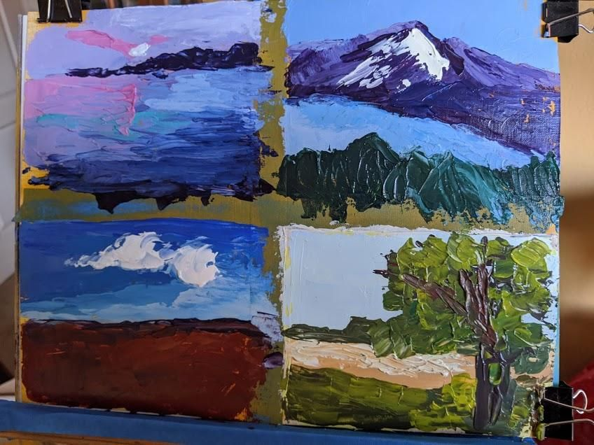 palette knife 20 minute studies - image 1 - student project