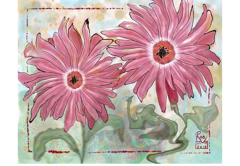 Gerbera Card - image 2 - student project