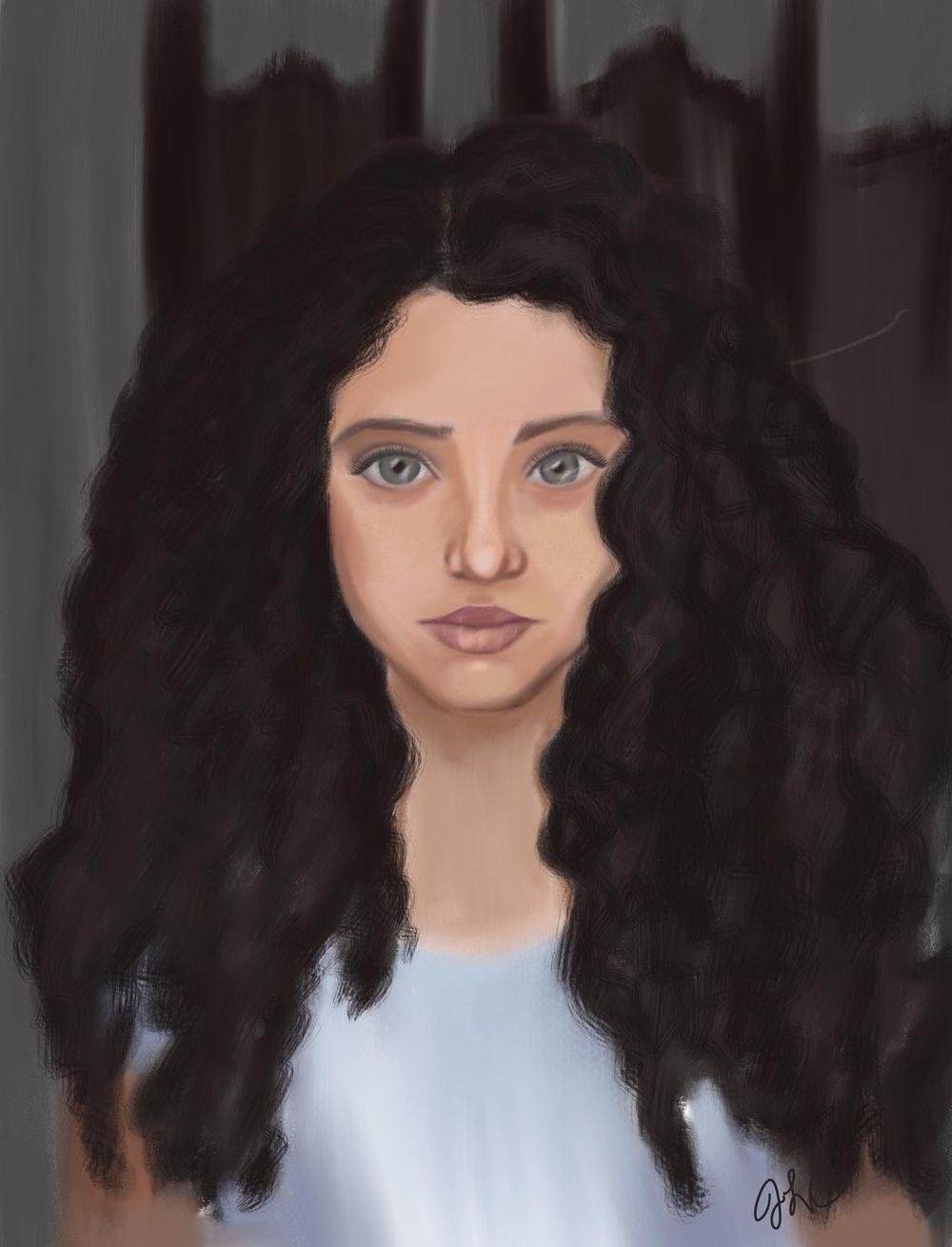 Portrait painting - image 1 - student project