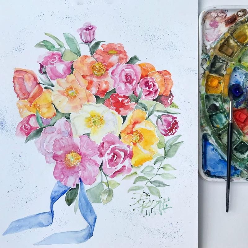 Florals in a Wedding Bouquet - image 1 - student project