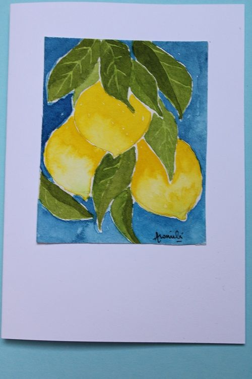 Hand painted cards - image 1 - student project