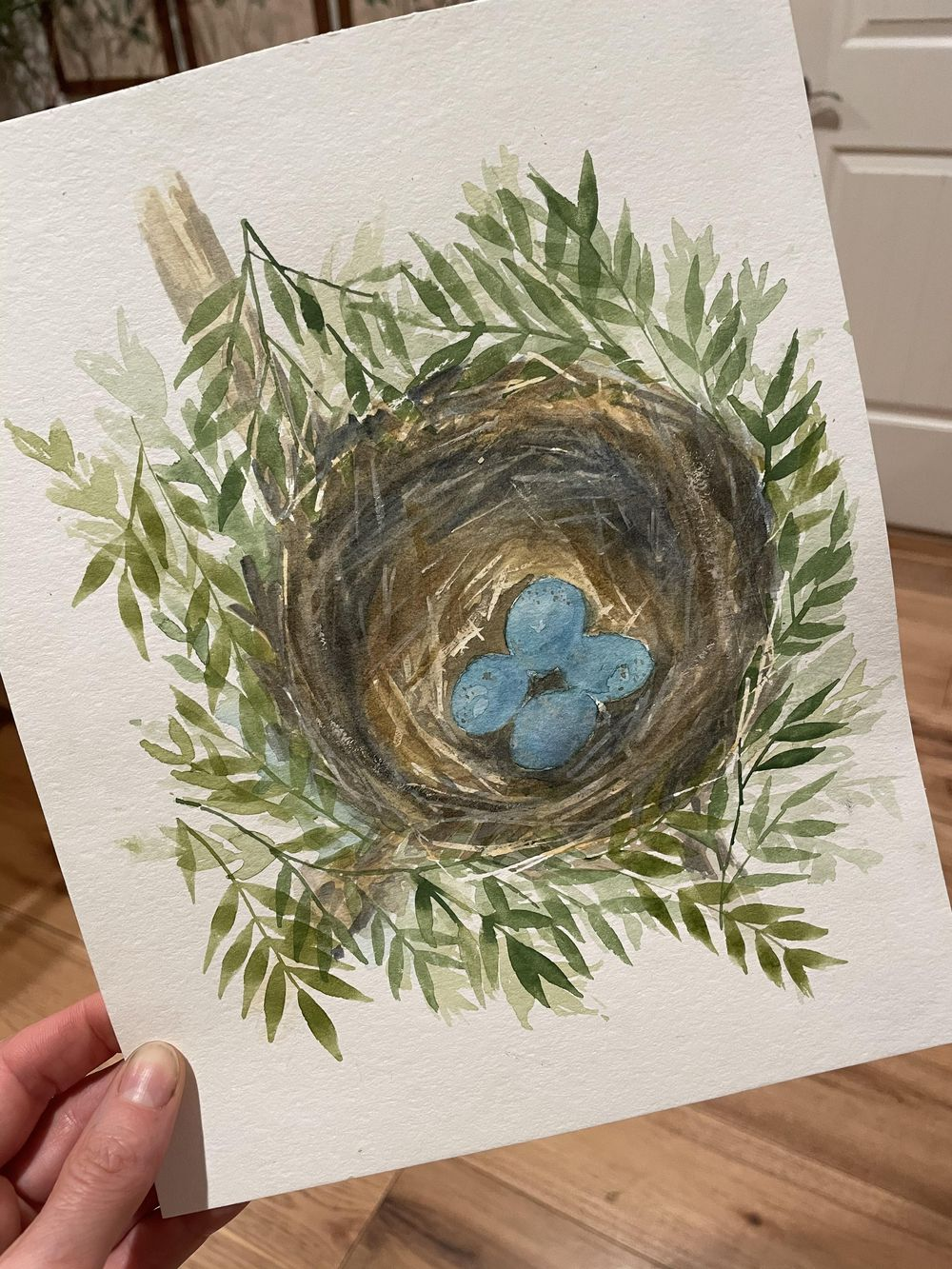 Watercolour Nest - image 1 - student project