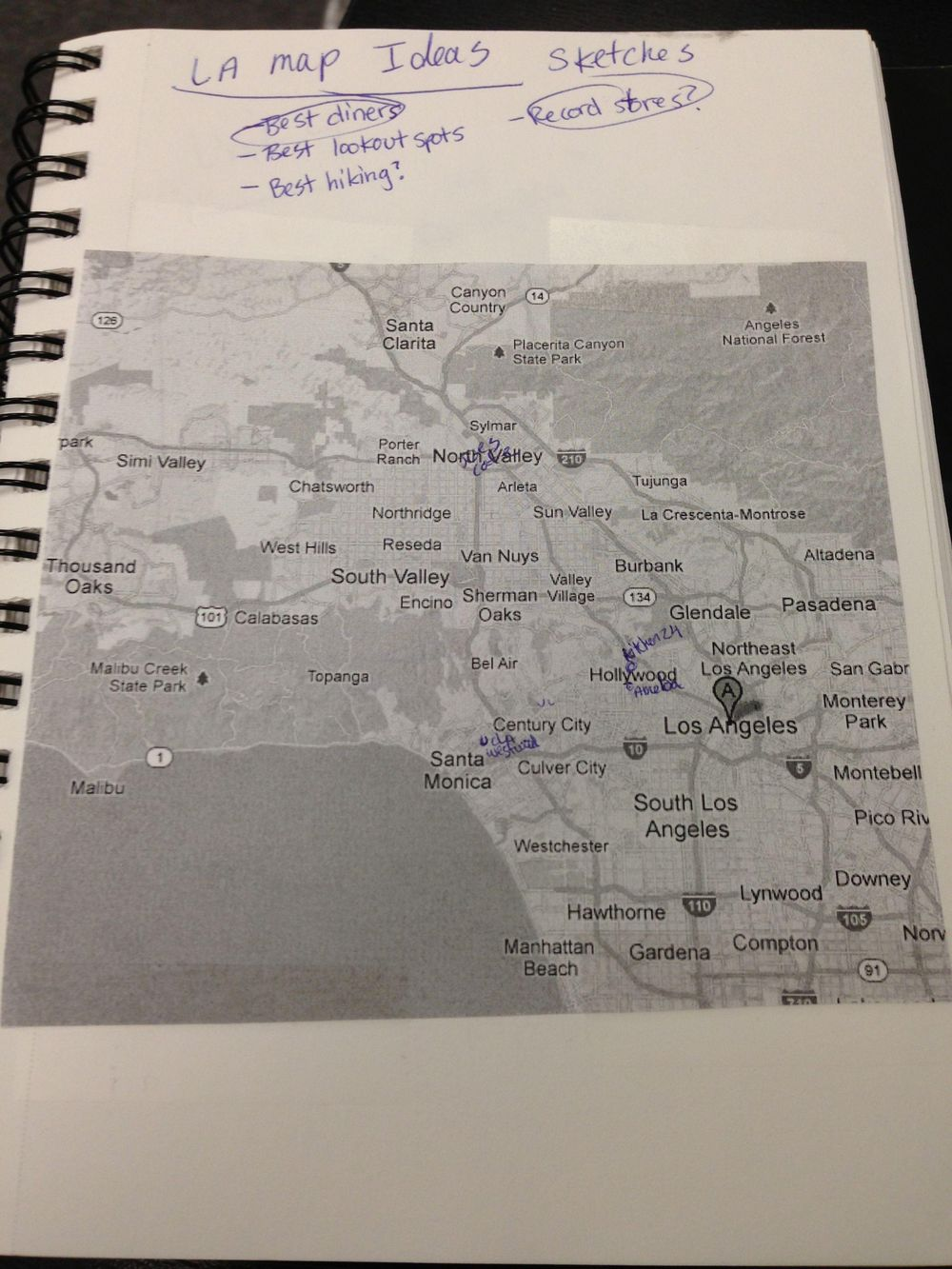 Map of Los Angeles  - image 1 - student project