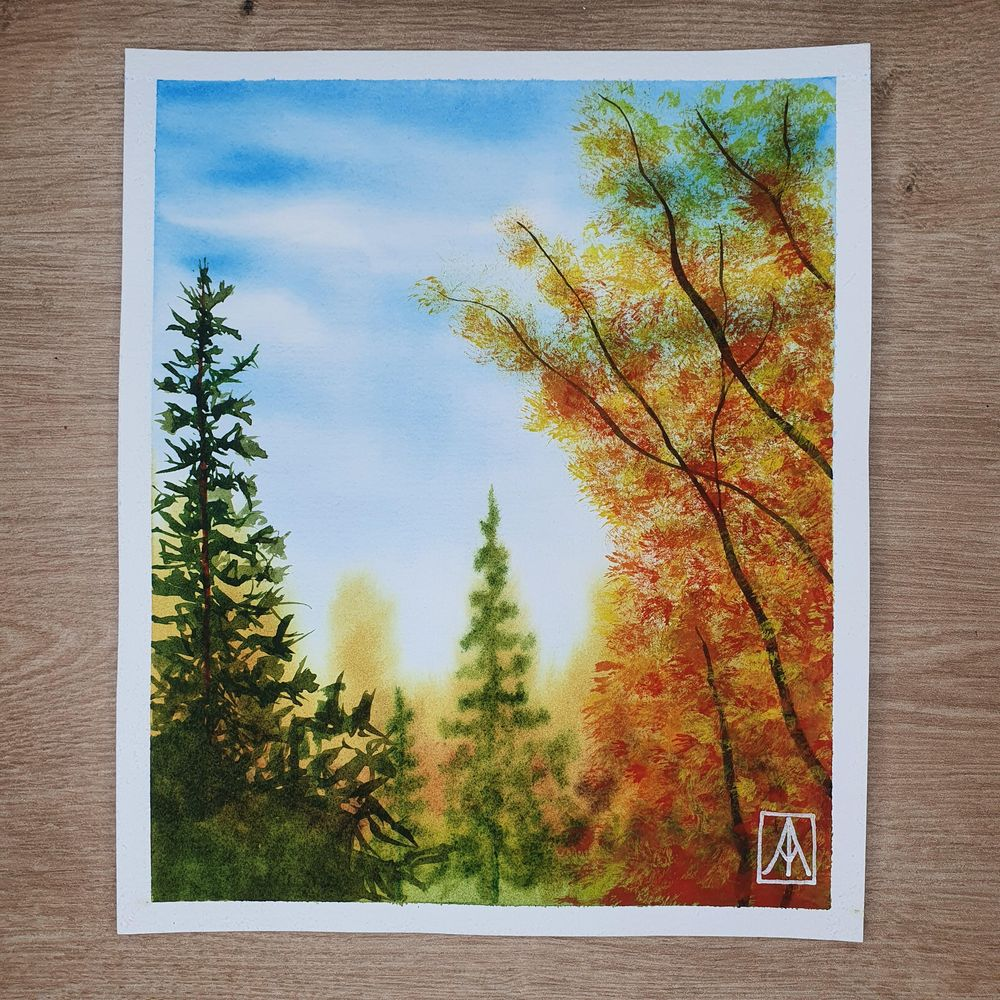31 Days of Autumn Landscapes with Watercolours - image 2 - student project