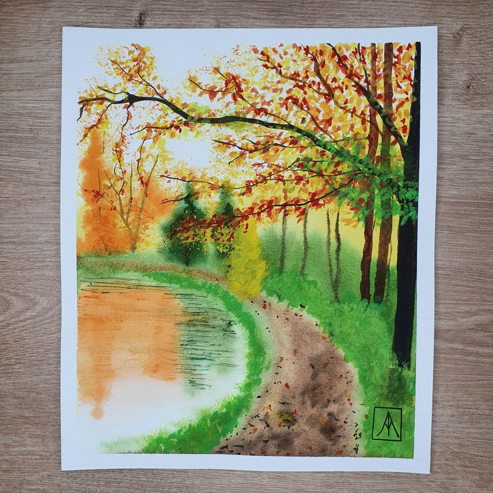 31 Days of Autumn Landscapes with Watercolours - image 3 - student project