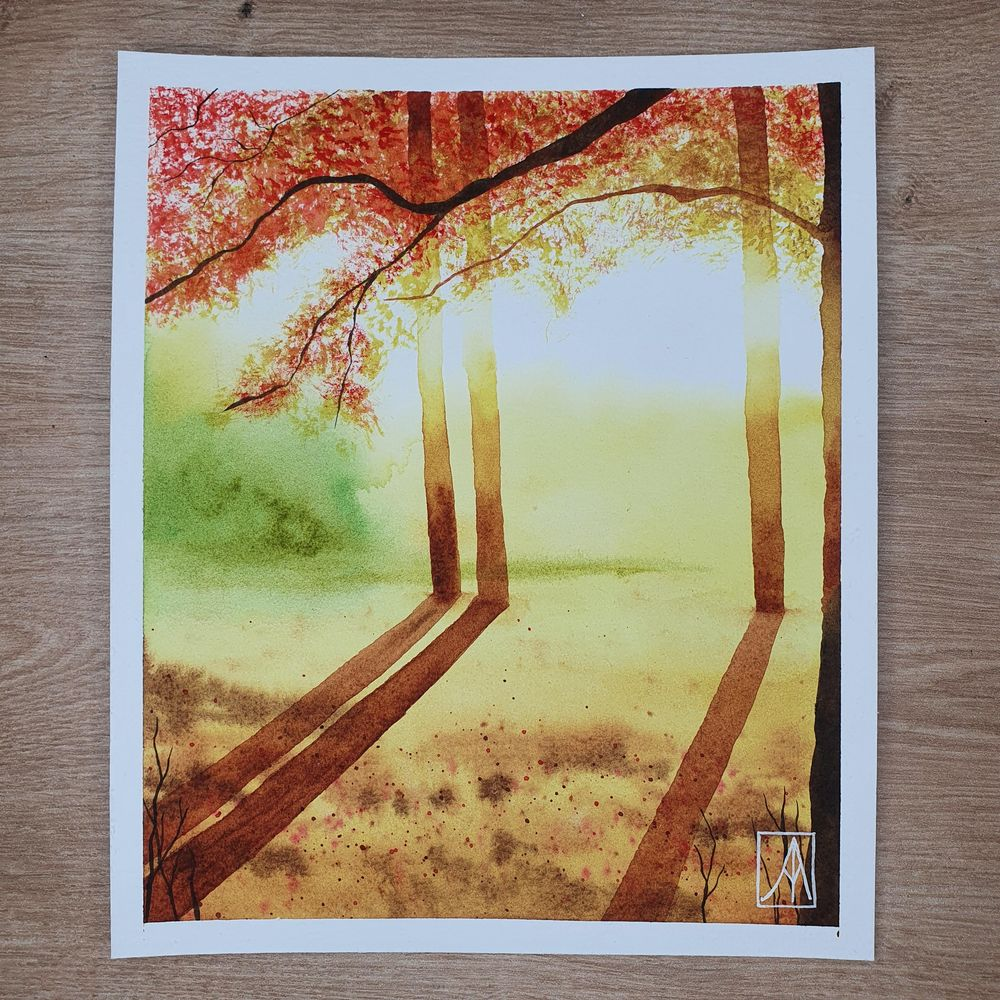 31 Days of Autumn Landscapes with Watercolours - image 7 - student project