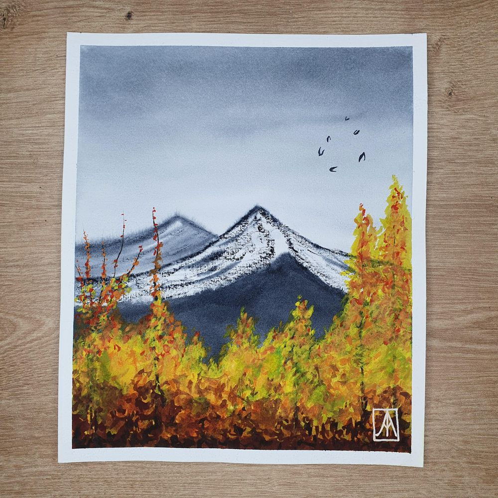 31 Days of Autumn Landscapes with Watercolours - image 1 - student project