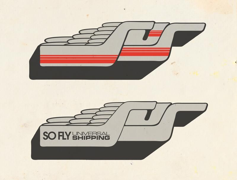 _UPDATED_SoFly Universal shipping - a galactic funk delivery logo - image 2 - student project