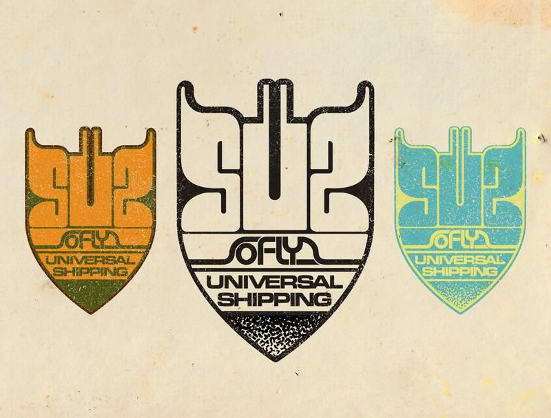 _UPDATED_SoFly Universal shipping - a galactic funk delivery logo - image 1 - student project