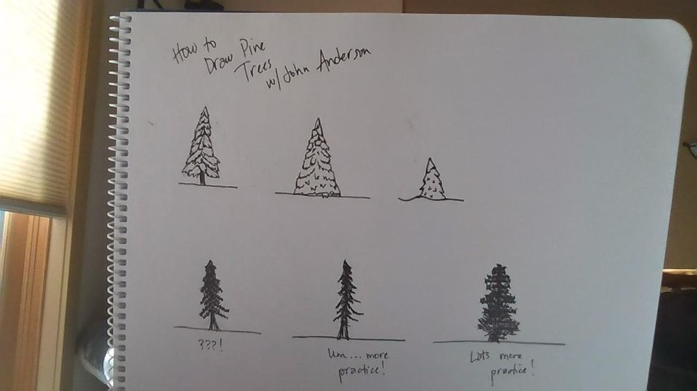 How to Draw Pine Trees - image 1 - student project