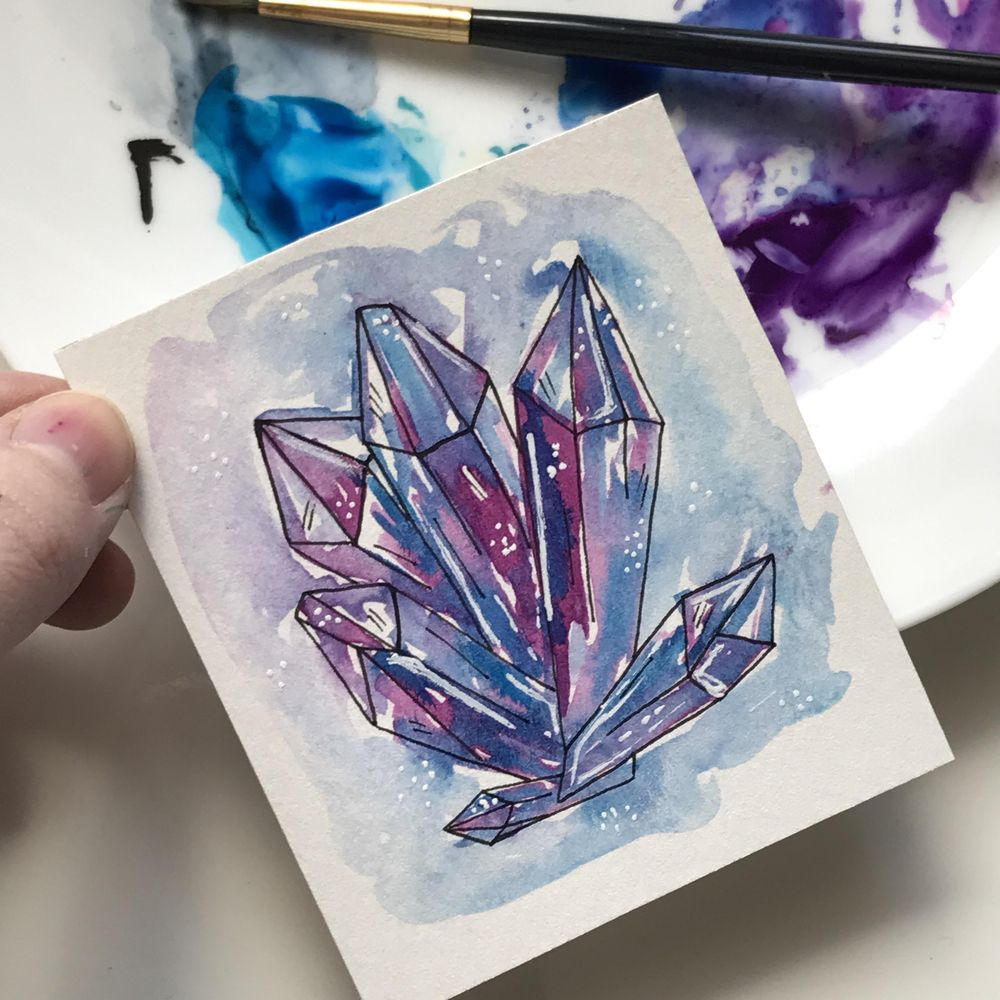 Realistic and whimsical crystals - image 1 - student project