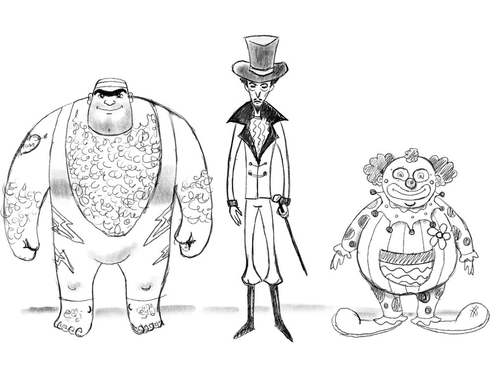 Paul Hallam's Circus Characters - image 1 - student project