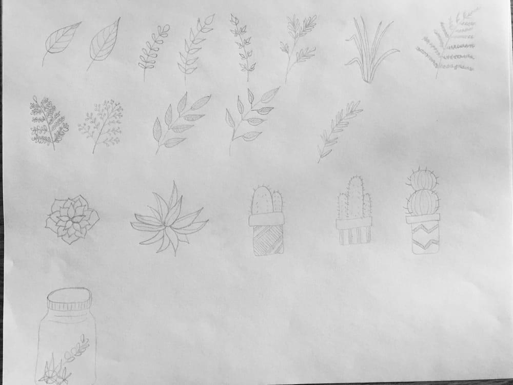 Botanical Doodles - image 2 - student project