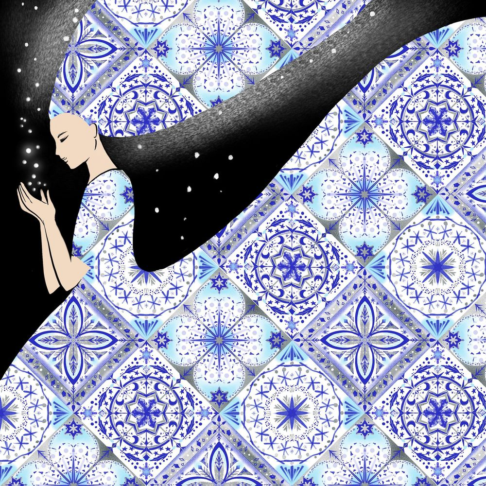 Tile lady - image 2 - student project