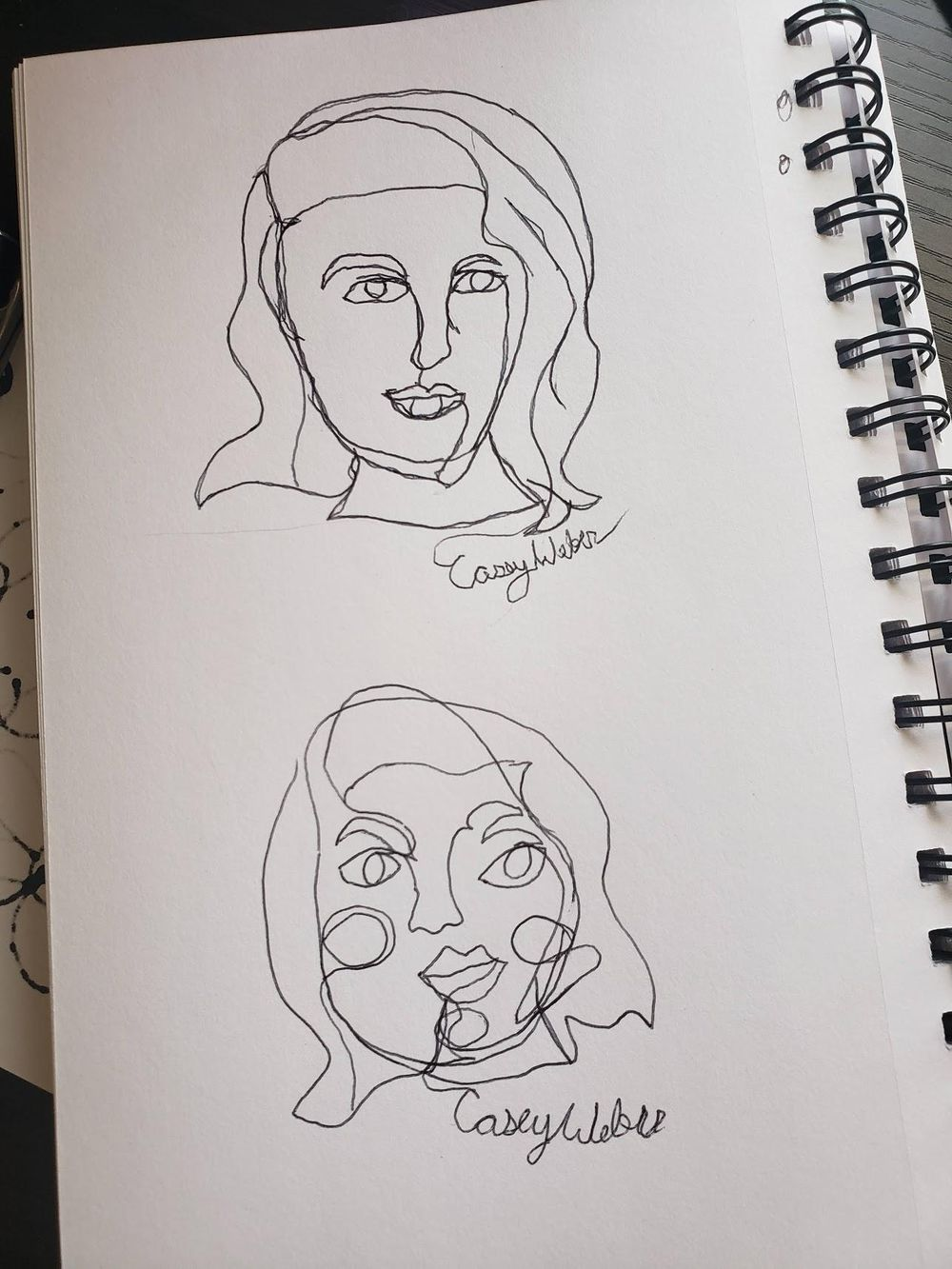Contour Drawings - image 1 - student project