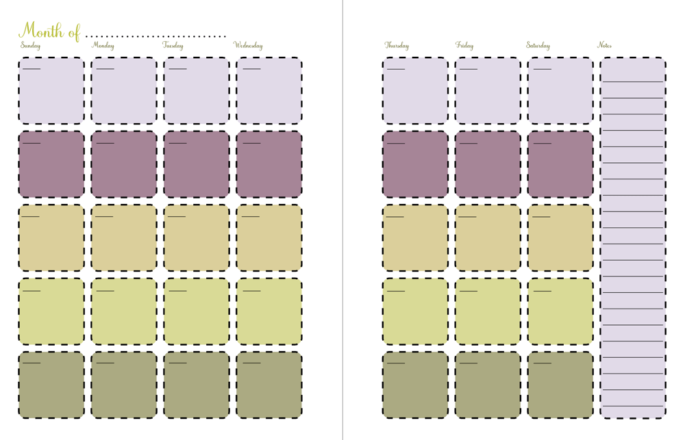 Pam's planner for publishing and printable - image 3 - student project