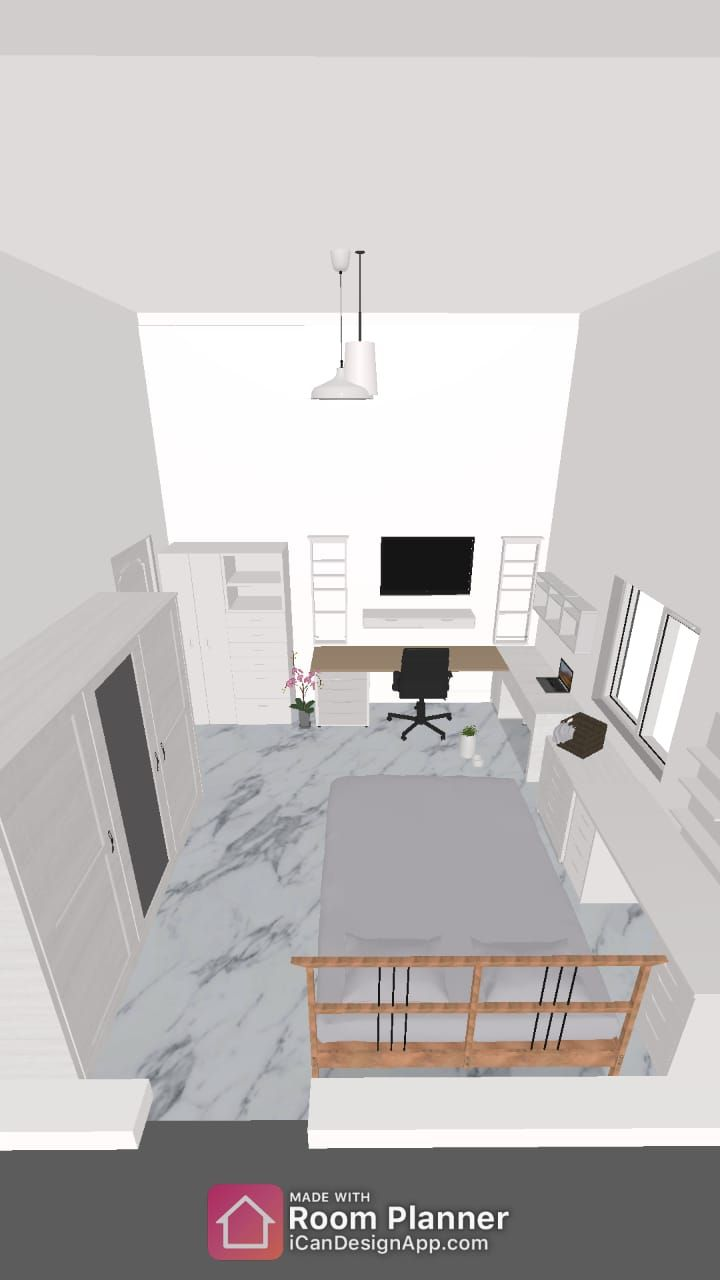Bedroom/Office design - image 1 - student project