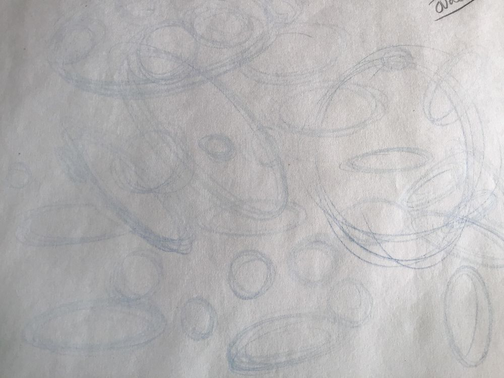 Circle and oval in blue - image 1 - student project