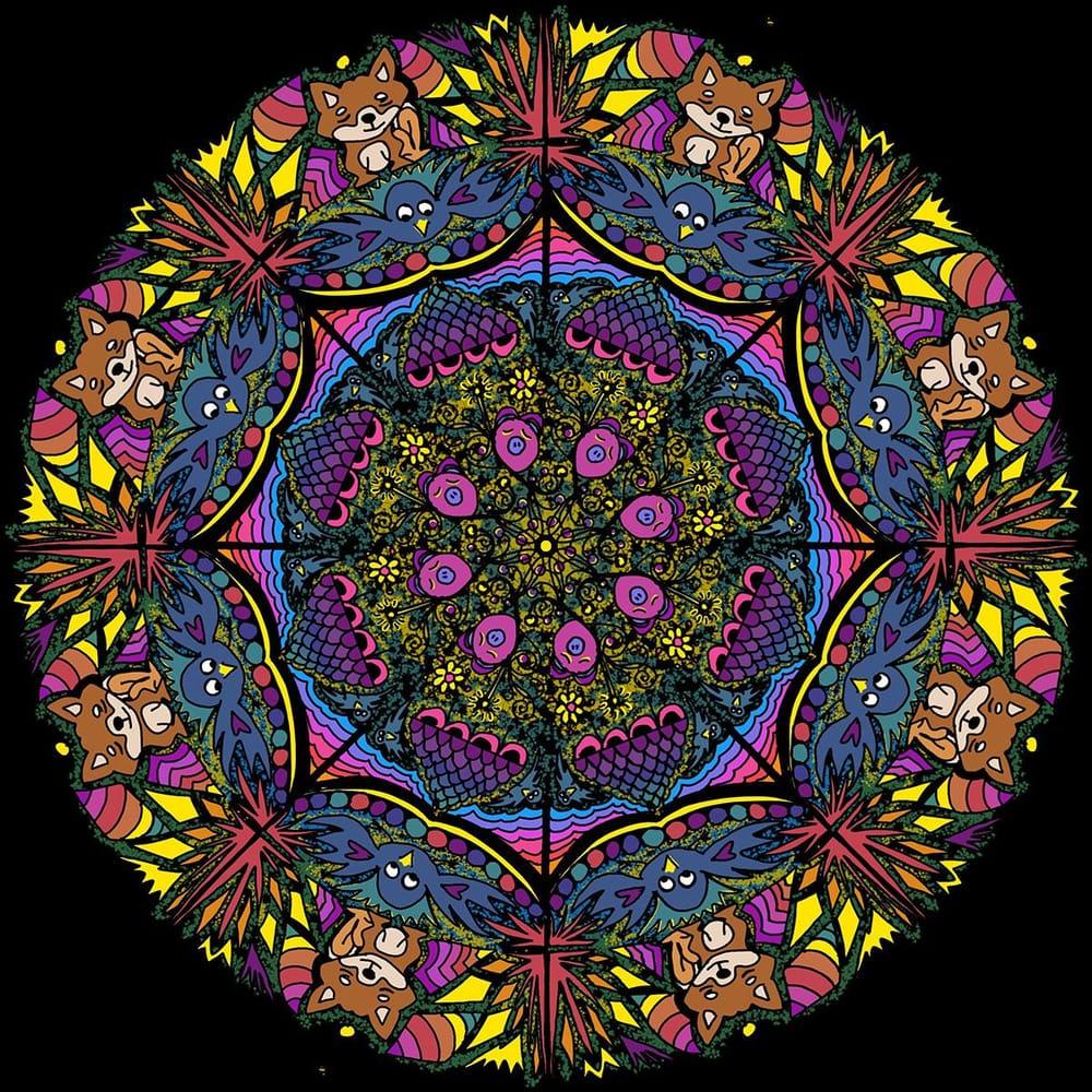 Dog Mandala - image 1 - student project