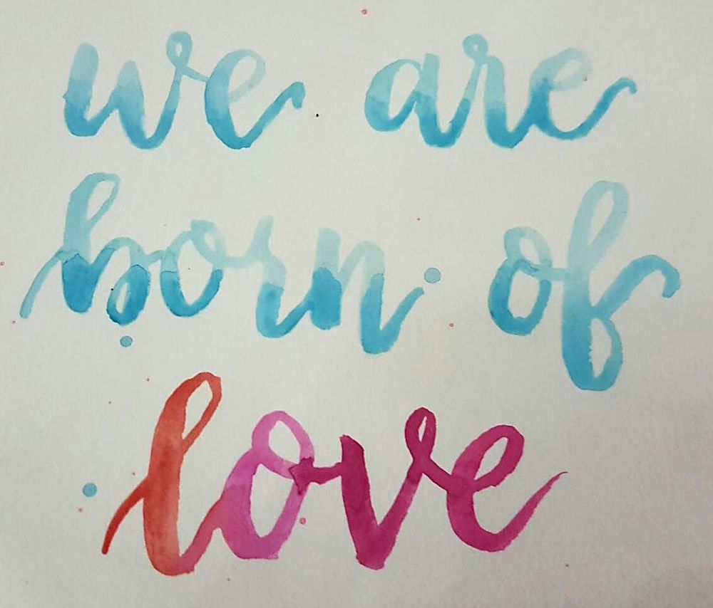 We are born of love - image 1 - student project