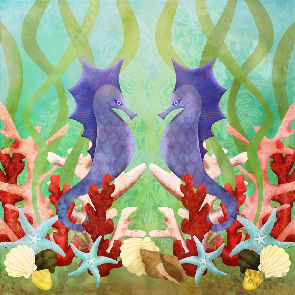 Symmetrical illustration with symbols - image 1 - student project