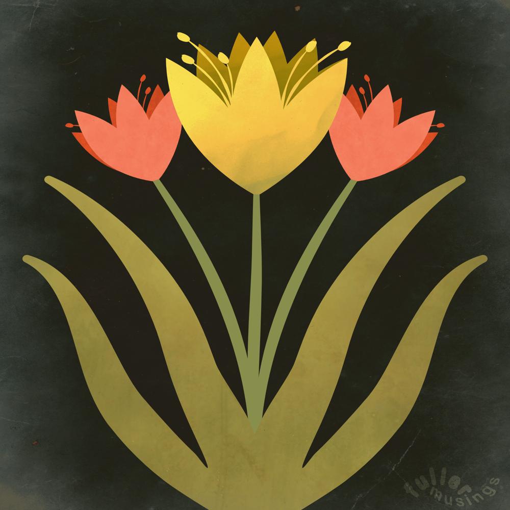 Symmetrical illustration with symbols - image 2 - student project