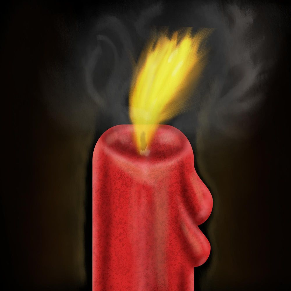 Candle with flame and smoke - image 1 - student project