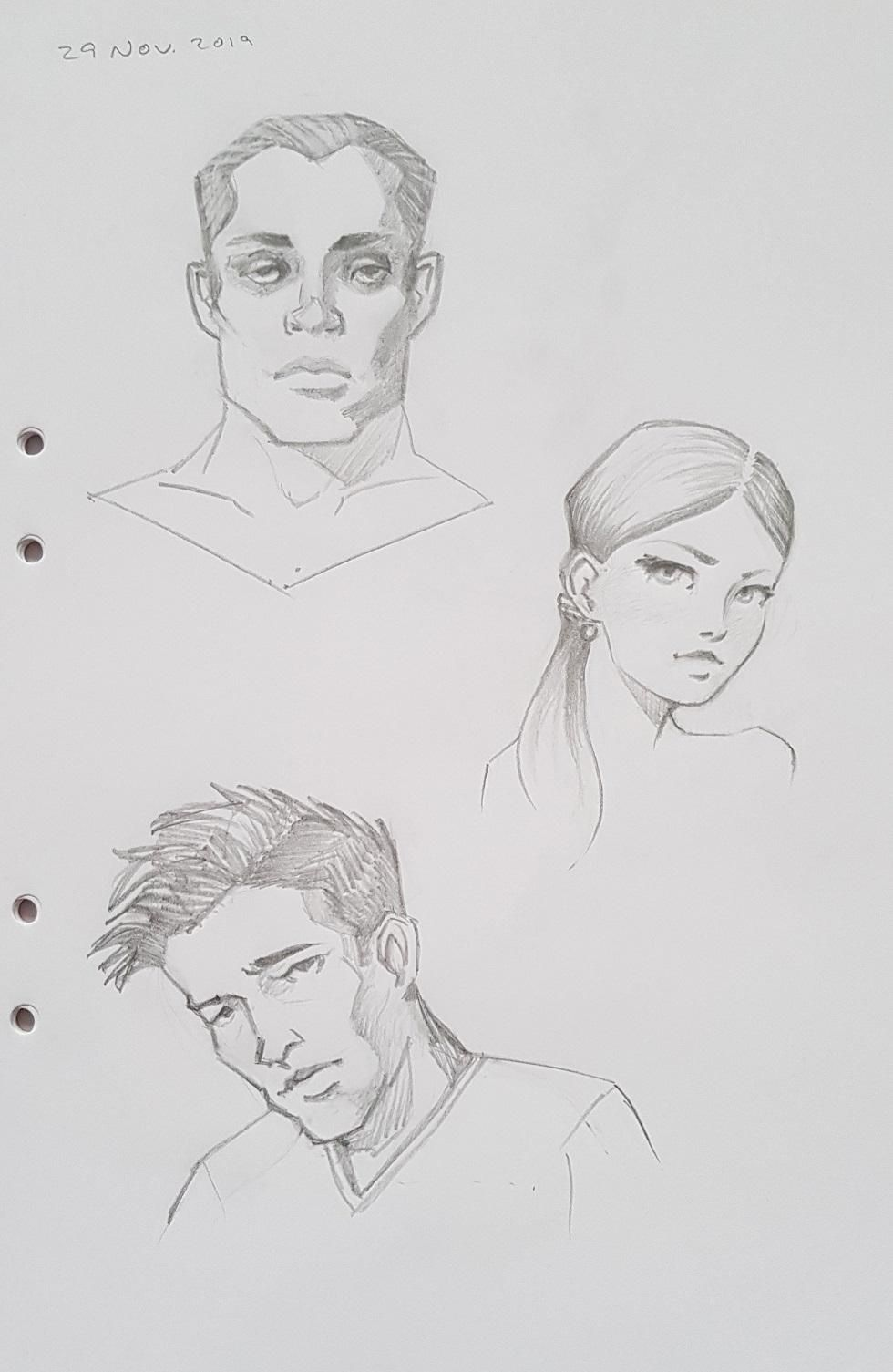 Character portraits and figures - image 1 - student project