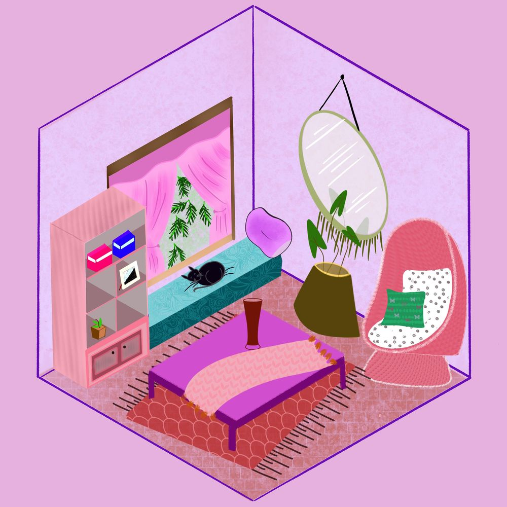 Isometric Living Room - image 1 - student project